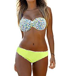 Womens Summer Corlorful Print Push Up Bikini