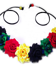 boho wedding Rasta Flower Headband, Flower Crown, Flower Halo, Festival Wear, Ultra Music Festival, Rave, Headband