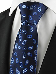 New Blue Paisley Classic Mens Tie Suit Necktie Party Wedding Holiday Gift KT1008