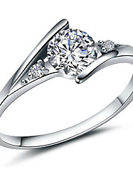 Ring Fashion Party Jewelry Brass / Cubic Zirconia Women Band Rings 1pc,One Size Silver