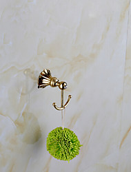 Bathroom Accessories Gold-Plated finished Solid Brass Robe Hook