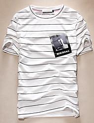 2016 new summer men's T-shirt striped T-shirt casual cotton T-shirt Metrosexual Korean youth