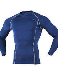 ARSUXEO® Cycling Base Layer Men's Long Sleeve BikeBreathable / Thermal / Warm / Quick Dry / Lightweight Materials / Limits Bacteria /