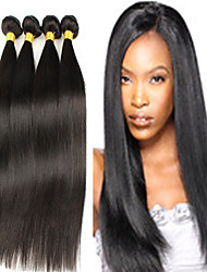 4bundles 8-26inch brasileiro do cabelo virgem cor do cabelo reto 1b # do cabelo humano virgem crua não processada tece