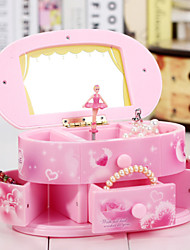 Dresser For Elise Music Box Plastic Pink / Yellow