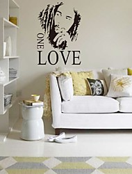 "43"" X61""Motto Bob Marley One Love Diy Removable Art Vinyl Quote Wall Sticker Decal Mural Home Decoration"