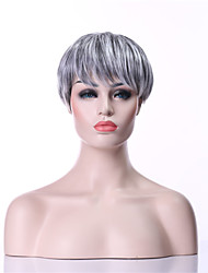 New Arrival Fashion Grey Wig Short Straight Woman's Synthetic Wigs Hair Wig Full Wig