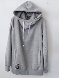 Brand Hight Qualiyt Men's Casual/Daily Simple Regular HoodiesSolid Blue Hooded Long Sleeve Polyester Fall / Winter Thick Micro-elastic