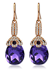 Wedding Accessories Rhinestone Jewelry Elegant Rose Gold Plated Drop Earrings For Women