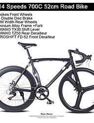 14 velocidades de 3 raios + 60mm rodas traseiras de bicicleta de estrada curva freio a disco de liga de alumínio tl ™ 700c bicicleta