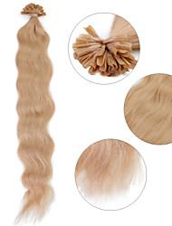 """neitsi 20 """"1 г / с кератином слияние у прибить наконечник естественная волна 100% человеческих волос расширения 14 #"""