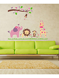 AY869 Cartoon Wall Stickers for Kids Rooms Home Decoration PVC Animal TV Decal Girls Room Mural Art