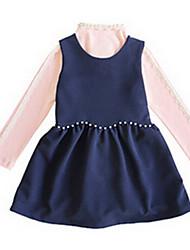 Girl's Blue / Pink / Beige Dress Polyester Summer