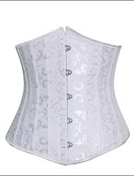 Damen Unterbrustkorsett Nachtwäsche Jacquard-Baumwolle / Polyester / Modal Weiß Damen