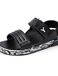 Men's Shoes Casual Leatherette Sandals Black / White / Gold