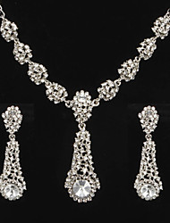 Women's Cubic Zirconia/Alloy/Imitation Pearl Wedding/Party Jewelry Set With