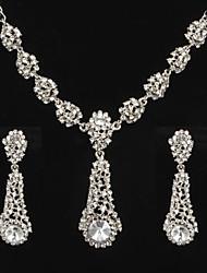 Conjunto de jóias Mulheres Aniversário / Casamento / Noivado / Presente / Diário / Ocasião Especial Conjuntos de Joalharia LigaCristal /