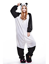 novo panda cosplay® polar fleece pijama adulto kigurumi (sem sapatos)