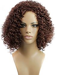 moda perucas sintéticas cor marrom estilo encaracolado perucas sintéticas