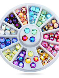1wheel Colorful Rhinestones Flatback 3d Nail Art Decorations