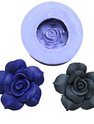 Одно отверстие Пион силиконовые формы Фондант Пресс-формы Сахар Craft Инструменты Смола цветы Плесень пресс-формы для тортов