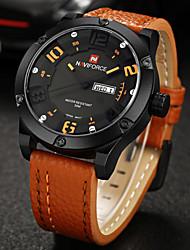 NAVIFORCE® Luxury Brand Men Military Army Fashion Analog Date Day Quartz Leather Watch Fashion Wrist Watch Cool Watch