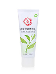 Dabao®Greentea Facial Cleanser Wet Foam Moisture / Oil-control / Cleansing Face 100g 1Pc