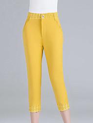 Pantaloni Da donna Skinny Casual / Semplice Cotone Elasticizzato