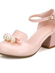 Zapatos de mujer-Tacón Robusto-Tacones-Tacones-Vestido / Casual / Fiesta y Noche-Cuero Patentado-Azul / Rosa / Blanco