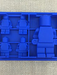 5 Grids Robot Ice Mold Silicone Chocolate Cube Tray Mold Maker Ice Cream DIY Kitchen Tools