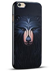 высокое качество тиснением медведя мягкой защитная задняя крышка iphone случай для iphone 6с плюс / iphone 6 плюс