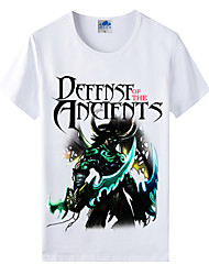 Flaming Light Cotton Lycra Men's T-shirt/World of Warcraft Wow Series Heroes T-Shirt/Illidan 1Pc