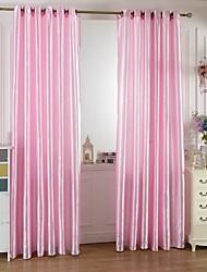 w100cm * l200cm, un panel de cortinas de poliéster varilla bolsillo multicolor