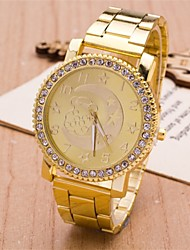 L.WEST Ladies' The Stars The Moon Bear Diamonds Steel Belt Quartz Watch Cool Watches Unique Watches