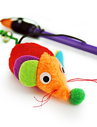 Cat Toy Pet Toys Teaser Bell Mouse Rainbow Plastic