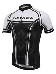 XINTOWN Men Bicycle Short Sleeve Jersey Sports Cycling Short Sleeve Jersey