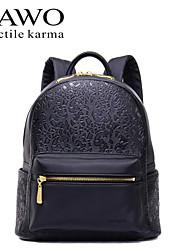 NAWO Women leatherette Backpack Blue-N654101