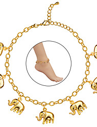 Hot Sell Summer Jewelry Foot Anklet On The Leg Gold 18K Plated Little Elephant Anklets For Women Gift A60004