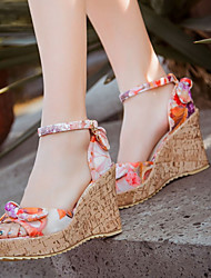 Women's Shoes Heel Wedges / Heels / Peep Toe / Platform Sandals / Heels Outdoor / Dress / Casual Yellow / Orange/1-41