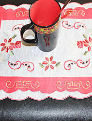 Multi-Purpose Embroidery Flower  Table Cloths With   Size 28X43cm(11X17 inch)