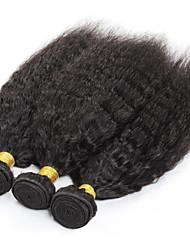 3pcs / lot 10-26inch vierge yaki droites extensions de cheveux péruviens de cheveux vierges non transformés cheveux humains faisceaux