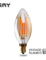 3W E12 Ampoules Bougies LED B 4 COB ≥300 lm Blanc Chaud Gradable / Décorative AC 110-130 V 1 pièce