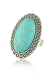 Ring Women's / Unisex Turquoise Alloy Alloy Adjustable SilverColor & Style representation may vary by monitor. Not responsible for