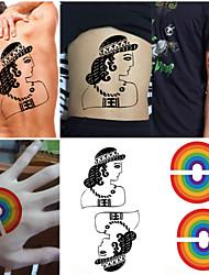 New Design Fashion Temporary Tattoo Stickers Temporary Body Art Waterproof Tattoo Pattern(10PCS)