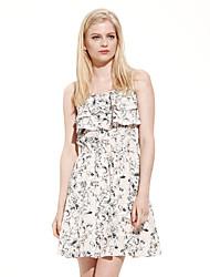 Meters/bonwe Women's Strap Sleeveless Knee-length Dress-233851