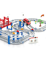 3D Kids Toys Festive Gifts Two-layer Spiral Track Roller Coaster Toy Electric Rail Car for Child Gift Christmas Gift