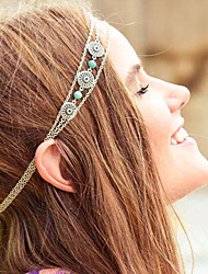European Turquoise Alloy Headbands Daily / Casual 1pc