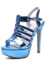 Women's Shoes Customized Materials Stiletto Heel Heels / Peep Toe / Platform Sandals Wedding / Party & Evening / Dress