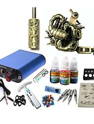 kit de tatouage basekey jh571 1 machine avec poignées d'alimentation 3x10ml encre