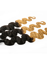 Ombre Hair Weaves 3pieces 10-28inch #1B/27 Body Wave Human Hair Extension